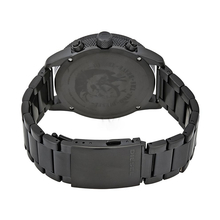 WW0151 Diesel Rasp Black Sunray Dial Chronograph Stainless Steel Chain Watch DZ4453