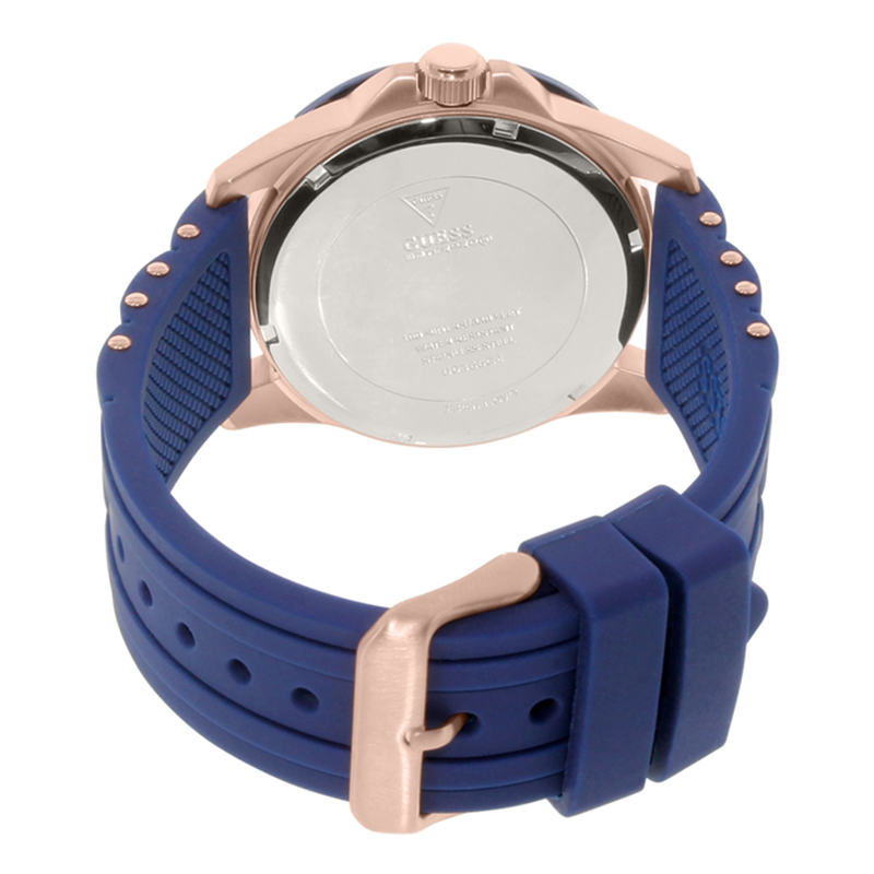 WW0547 Guess Oasis Blue Day Date Belt Watch W0366G4