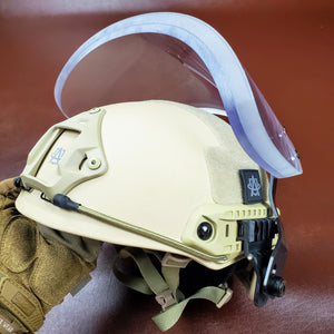 NIJ IIIA Face Shield Bulletproof Helmet Visor for PASGT, MICH, FAST, ACH Ballistic Helmets - Atomic Defense