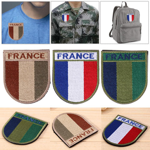 Arms Badge Embroidered Badge Stickers On Clothes Bag Tactical Army Morale Badges France Flag DIY Patches Sewing Accessories