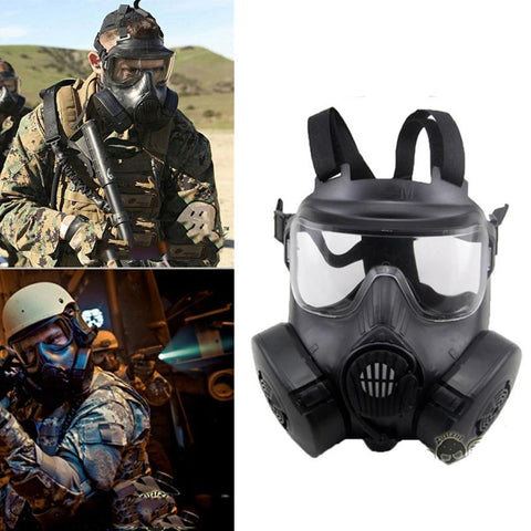 M50 Tactical Gas Mask Dual Fan with Anti-fog - DC15 CS Equipment