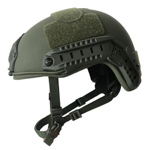 NIJ IIIA FAST Bulletproof Helmet with Rails - Ballistic Helmet - Color Options - Atomic Defense