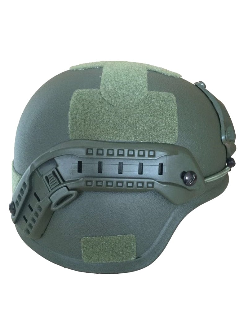 OD Green MICH 2000 Bulletproof Helmet Level NIJ IIIA Ballistic Helmet with Rail System - Atomic Defense