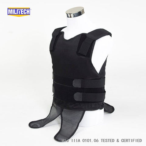 Black NIJ IIIA 3A and Level 2 Stabproof Kevlar Bulletproof Vest