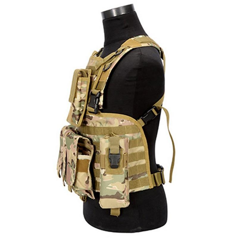 Tactical Vest with MOLLE - Multiple Color Options - Atomic Defense
