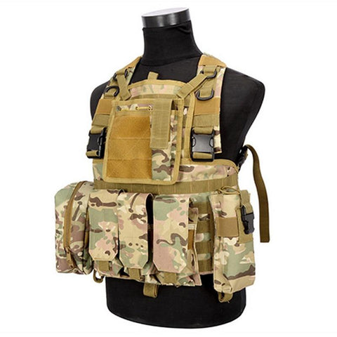 Tactical Vest with MOLLE - Multiple Color Options