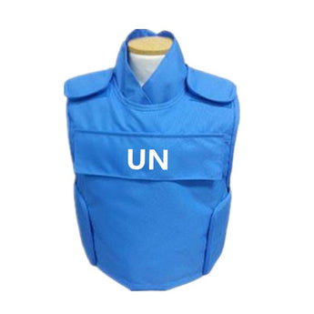Blue NIJ IIIA Bulletproof Press Vest with Insert Pockets - Atomic Defense