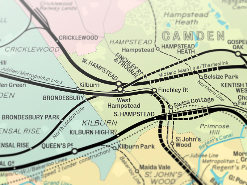 Illustrated London map prints