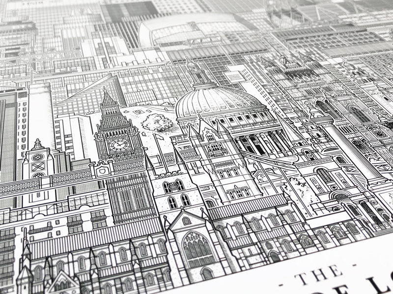 London architecture prints