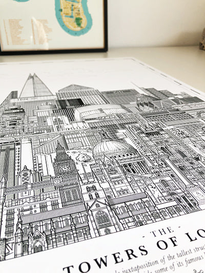 The Towers of London print 50 x 70 cm