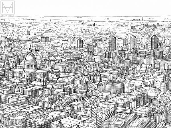 A Panorama of London (original version) giclee print