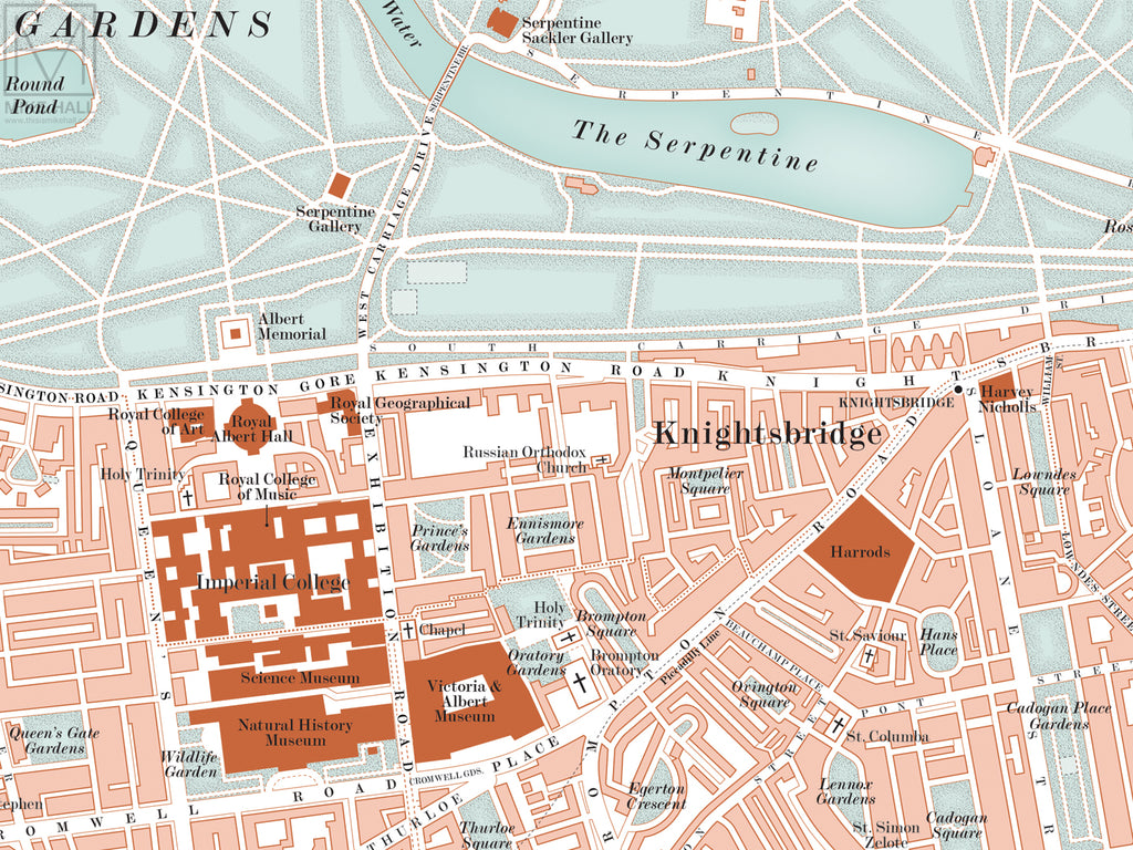 City Map Of Uk.London Uk City Map Giclee Print 70 X 50 Cm Mike Hall Maps