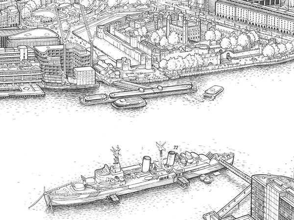 A Panorama of London (decorative version) giclee print