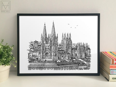 Burgos Cathedral giclee print