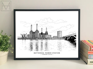 Battersea Power Station, London giclee print