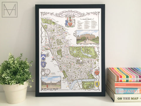 Kensington & Chelsea (borough) illustrated map giclee print