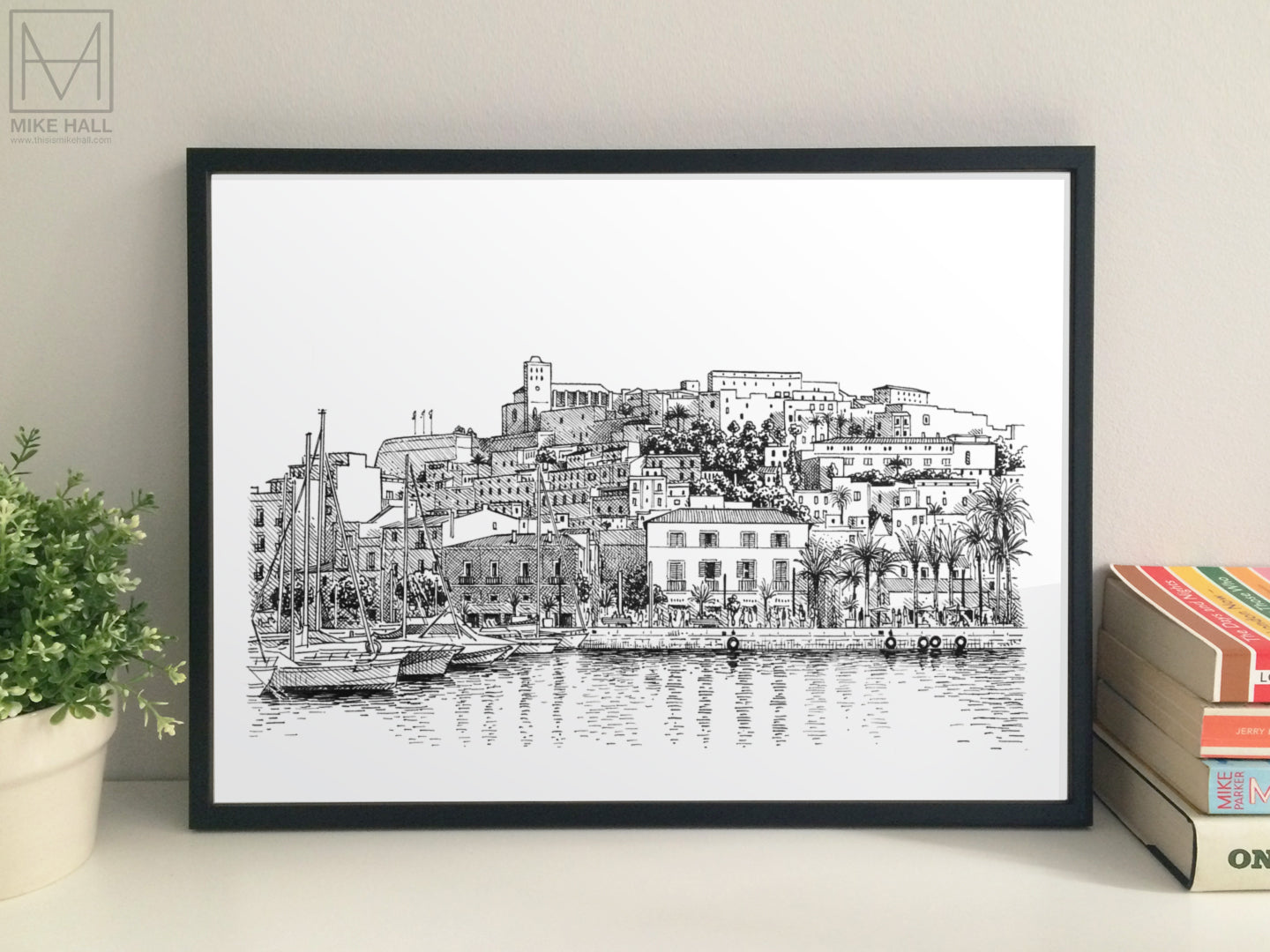 Ibiza Old Town and Port giclee print