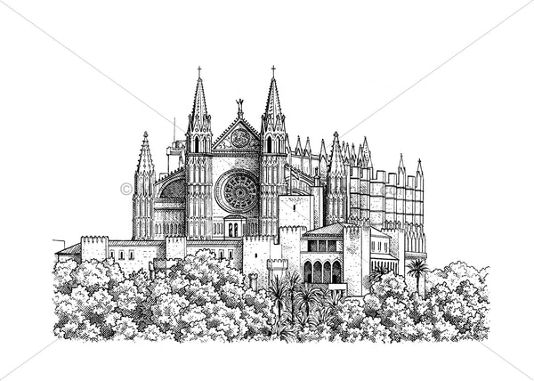 Palma Cathedral giclee print