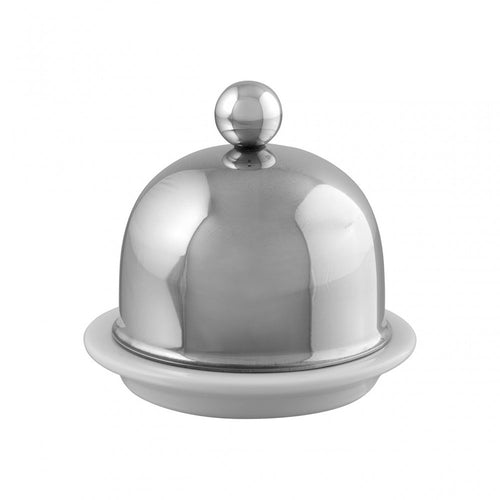 M'TRADITION stainless steel porcelain butter dish