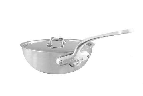 M'URBAN3 curved splayed saute pan with lid