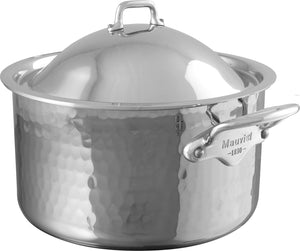 Mauviel USA M'ELITE cocotte with lid, 9.4 in M'ELITE cocotte with lid, 9.4 in