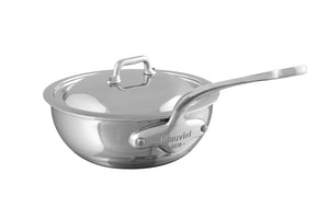 M'COOK curved splayed saute pan with lid