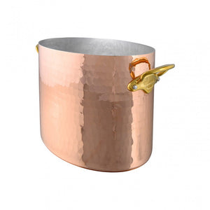 Mauviel USA M'30 oval hammered copper champagne bucket M'30 oval copper champagne bucket packshot