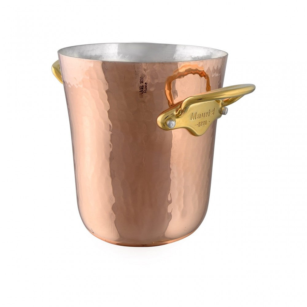 M'30 hammered copper ice bucket with bronze handles packshot