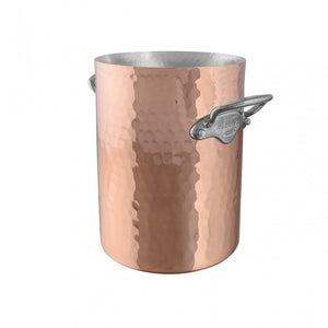 M'30 hammered copper wine bucket and stainless steel handles packshot