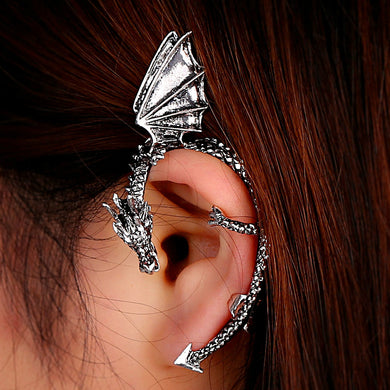 Retro Vintage Gothic Rock Punk Twine Dragon Shape Ear Cuff  Earring Earrings for Women Men Earrings