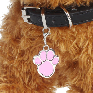 Waterproof & Durable Alloy Footprint Shape Pet Small Dog Puppy Cat Safety Collar Pendent Fashion Pet Jewelry
