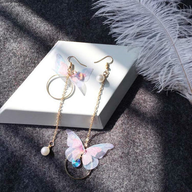 Cute Butterfly Wing Shaped Womens Earring