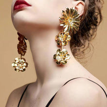 Ethnic statement Sequins flower tassel Earrings for women