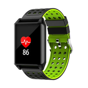 M7 Sport Ip67 Waterproof Support Heart Rate Predometer Smart Watch For Gifts - Black Green