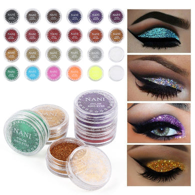 24 Colors Optional Monochrome  Eye Powder Shadow Women Beauty Eye Make Up Shinning Glitter Powder