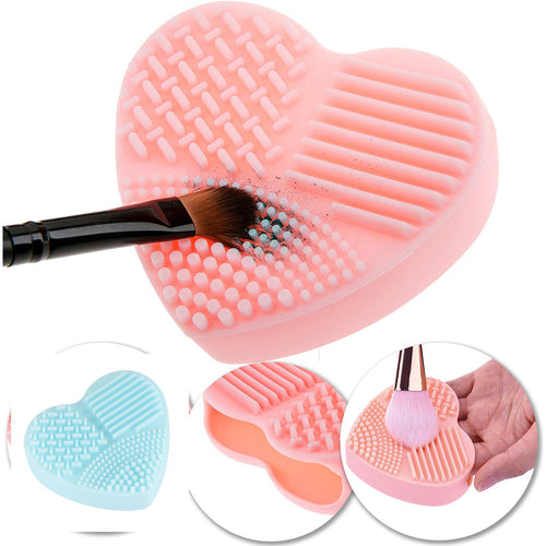 Cosmetic Cleaning Tools for makeup brushes Heart Shape Clean Make up Brushes