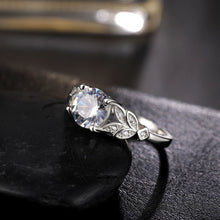 Fashion Wedding Crystal Silver Engagement Ring