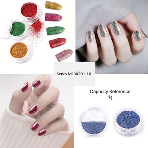 Nail Art Glitter Mirror Flakes Sequins Gel Polish Decoration Holographic Chrome Pigment Manicure Nails Accessoires