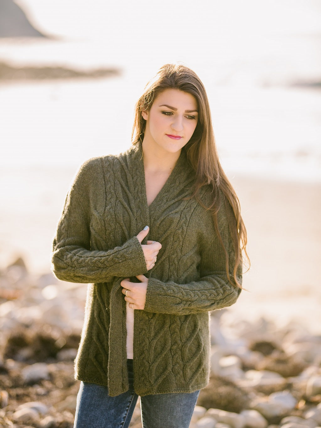Beanstalk Cable Cardigan Pattern