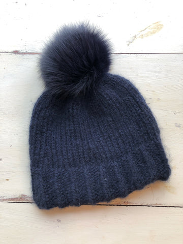 Todd and Duncan Cashmere Twisted Rib Hat Kit