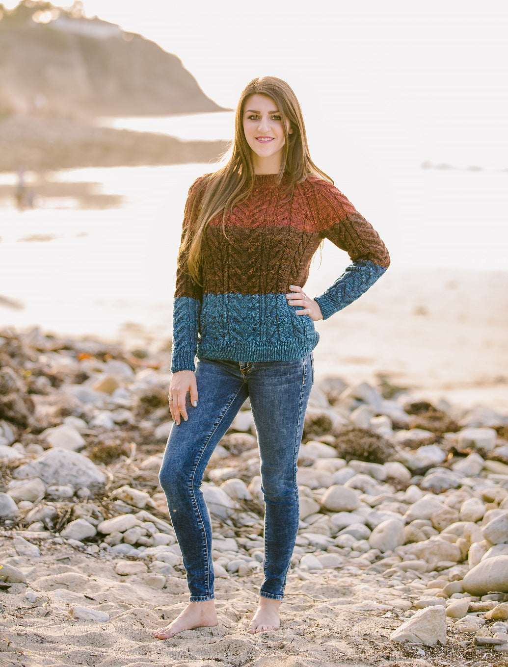 Cables by Carol Raglan Pullover Pattern