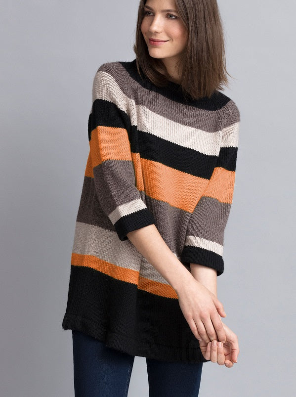 Carol Raglan Striped Tunic Pullover Kit