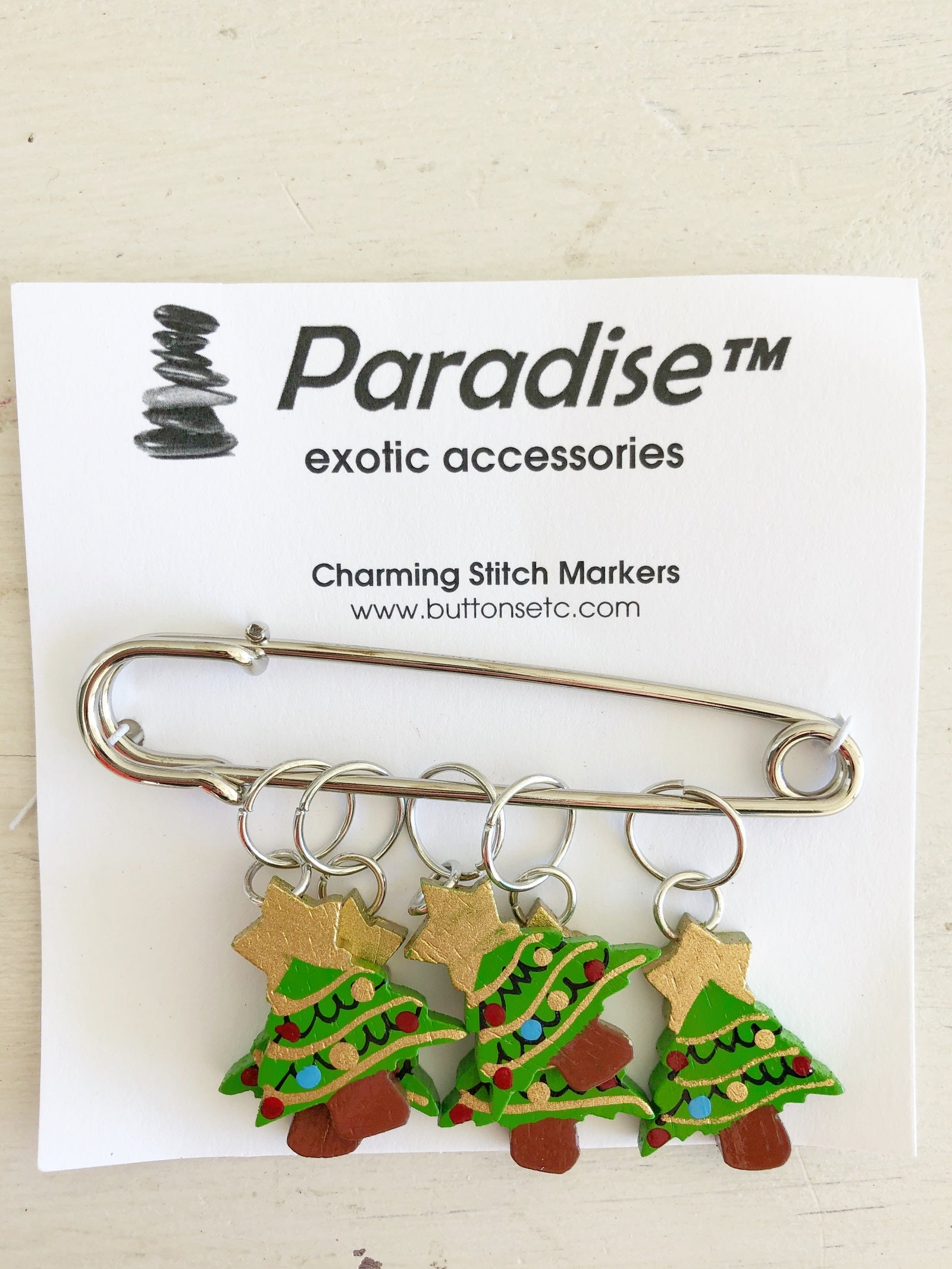 Paradise Charming Stitch Markers