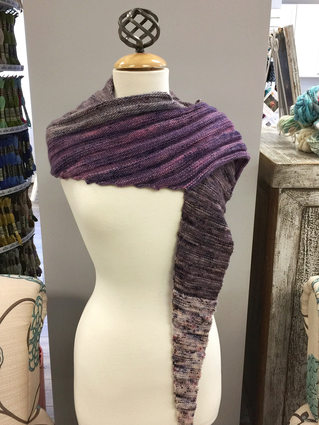 Jade Sapphire Speckled Cashmere Shawl Kit
