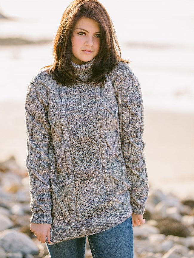 Diamond Cable Pullover Pattern Using in Prism Madison