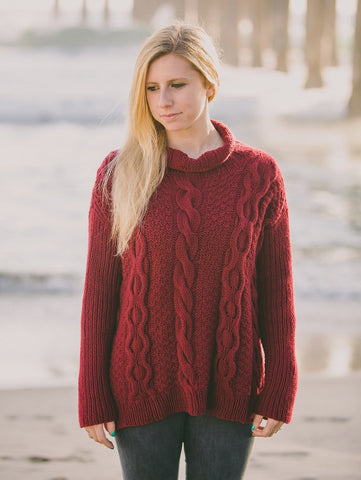 Easy Roll In Neck Filatura Solo Cashmere Cardigan Kit
