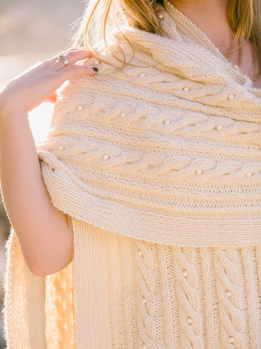Endless Cable Shawl Pattern