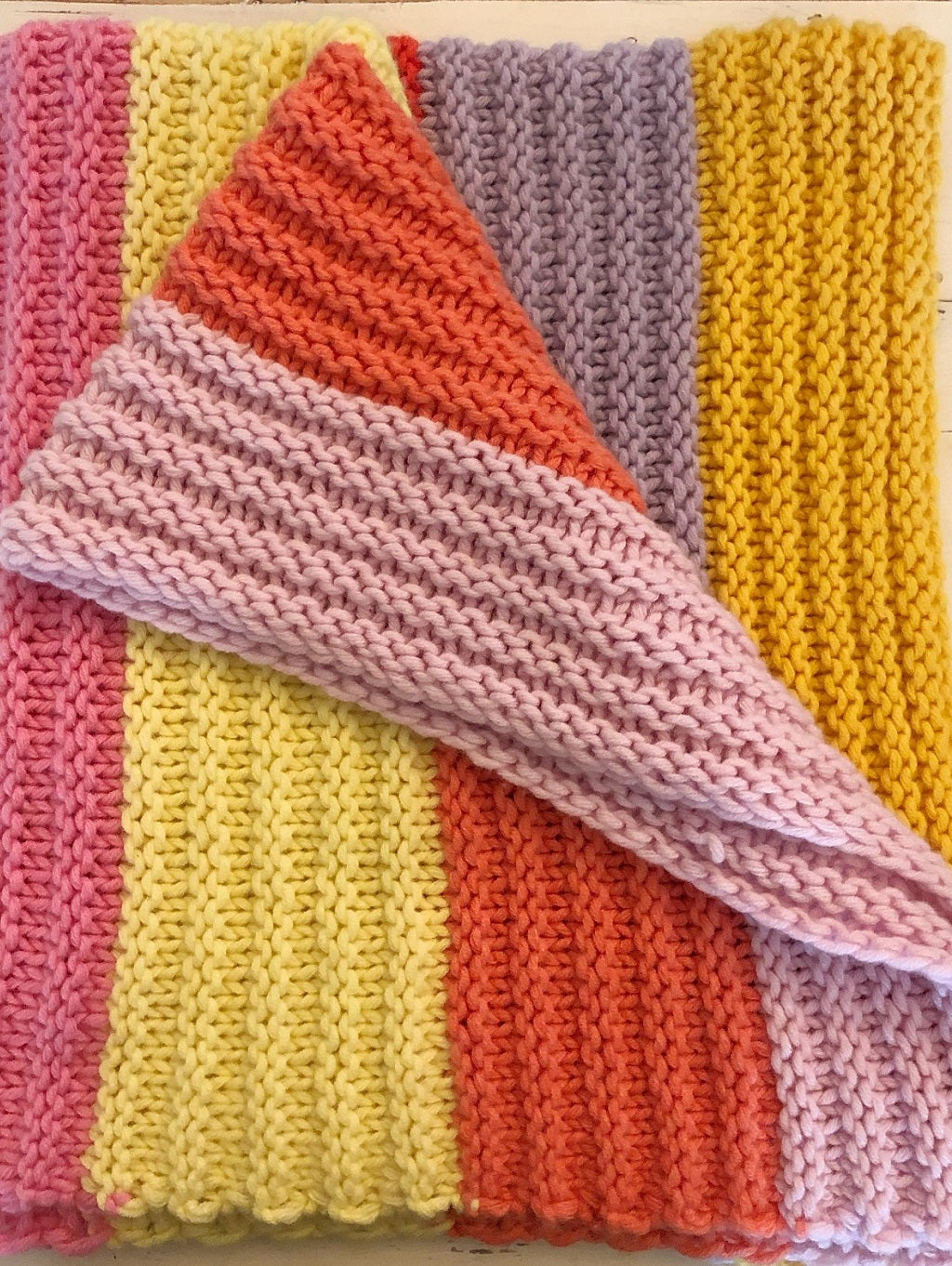 JK Bulky Striped Baby Blanket