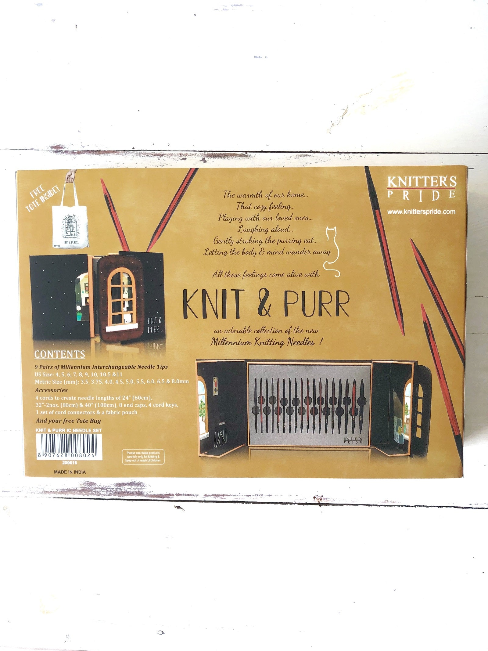 Knitter/'s Pride Knit and Purr Interchangeable Knitting Needle Set