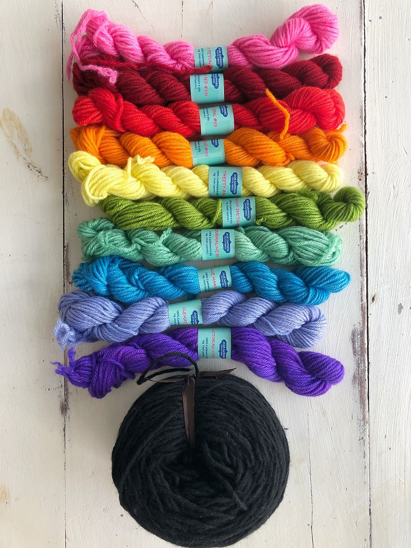 Colorful Cashmere Cables Pullover Kit